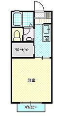 ダンディライオン高井 B棟[102号室]の間取り