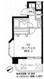 東京都三鷹市上連雀3丁目の賃貸マンションの間取り