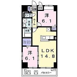 畑田町店舗付マンション[3階]の間取り