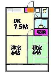 埼玉県上尾市原市の賃貸マンションの間取り