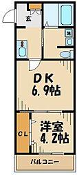 Atelieri Avenue 1階1DKの間取り