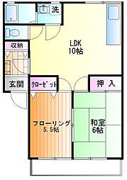 メゾン富士見[202号室]の間取り