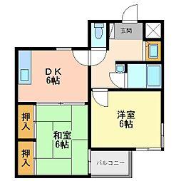 第2中村マンション[1階]の間取り