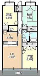 コーラルリーフ湘南[4階]の間取り