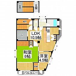 コサエールマンション[4階]の間取り
