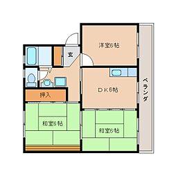 静岡県静岡市葵区古庄6丁目の賃貸マンションの間取り