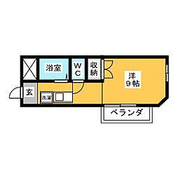 シャトー岐西[2階]の間取り