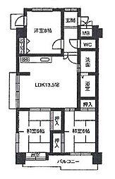 レジデンスマサノ1[2階]の間取り