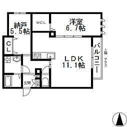 (仮称)東大阪市・シャーメゾン岩田町3丁目[105号室号室]の間取り