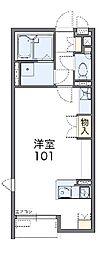 埼玉県東松山市あずま町2丁目の賃貸アパートの間取り