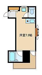 西武池袋線 東長崎駅 徒歩5分の賃貸アパート 2階ワンルームの間取り