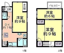 [一戸建] 東京都西東京市中町4丁目 の賃貸【/】の間取り