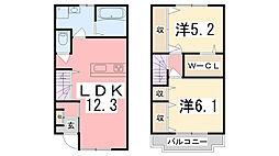 [テラスハウス] 兵庫県加古川市野口町良野 の賃貸【/】の間取り