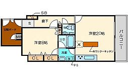 リーガル堀江公園[10階]の間取り