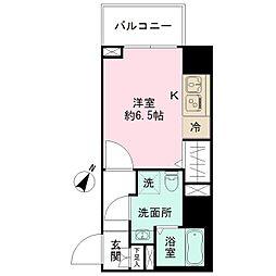 エヌステージトヨダ 5階ワンルームの間取り