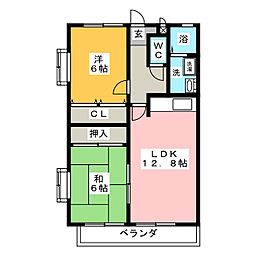 サンブルーム[2階]の間取り