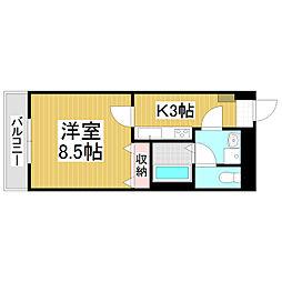 ロンサール竹淵[6階]の間取り