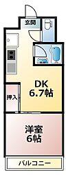フォレストコート[412号室]の間取り