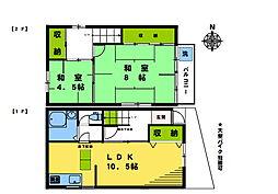 [一戸建] 東京都新宿区北新宿3丁目 の賃貸【/】の間取り