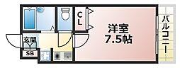 シャトラン弓木三番館[2階]の間取り