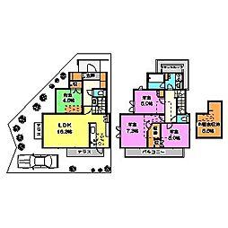 [一戸建] 東京都西東京市栄町1丁目 の賃貸【/】の間取り