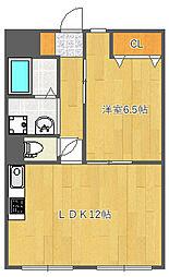 ベリエーヴ三宅[4階]の間取り