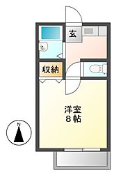 フローラハイツ[1階]の間取り