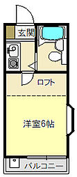 クラウンハイツ[2−A号室]の間取り