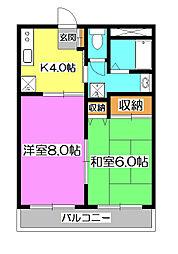 第三安田ビル[2階]の間取り