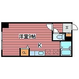 キャッスル福住96[6階]の間取り
