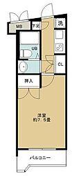 東京都狛江市東和泉1丁目の賃貸マンションの間取り