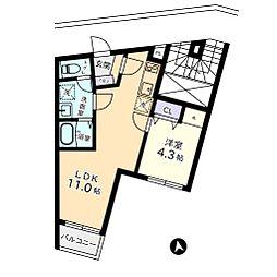 ヴィラージュ白金台[1階]の間取り