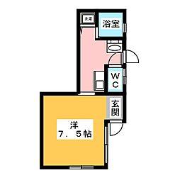 土古貸家[1階]の間取り