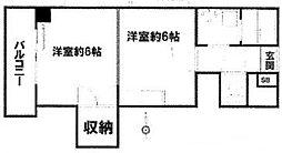 東京都世田谷区世田谷2丁目の賃貸マンションの間取り