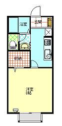 セジュール・ソレーユA棟[102号室]の間取り