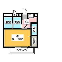 愛知県北名古屋市熊之庄古井の賃貸アパートの間取り