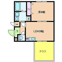 Ritz若江北(リッツワカエキタ)[109号室]の間取り