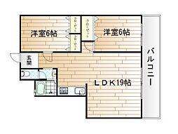 リバーサイドプリンセス篠崎[5階]の間取り