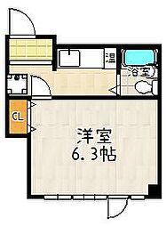 カンサ石山[504号室]の間取り