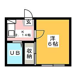 レオパレス沖田[2階]の間取り