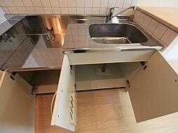 コート新栄のキッチン(ガス2口コンロ設置できます)