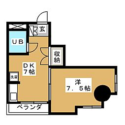 キャッスル北沢[3階]の間取り