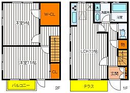 [テラスハウス] 東京都昭島市中神町1丁目 の賃貸【/】の間取り