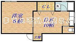 STマンション[3階]の間取り