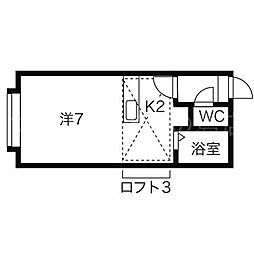 北海道札幌市豊平区平岸三条9丁目の賃貸アパートの間取り