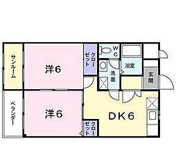 クリンゲル[0303号室]の間取り