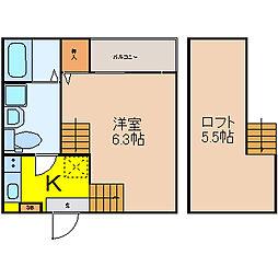 SEAPRAIRIE[1階]の間取り