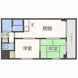 琴似2・7ビル[6階]の間取り