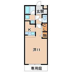 レジデンス四ヶ郷[1階]の間取り