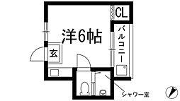 大阪府箕面市桜井1丁目の賃貸マンションの間取り